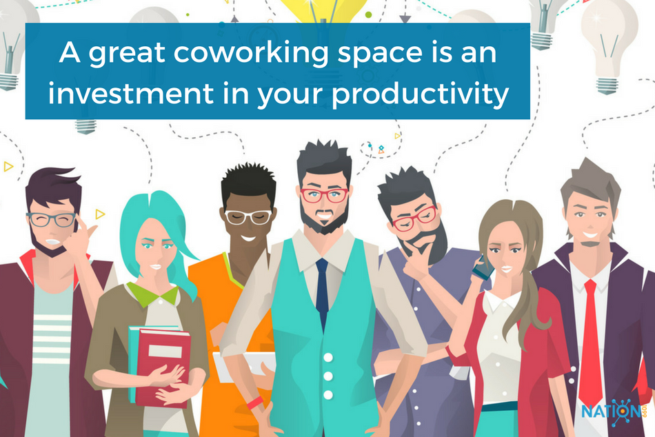 A group of freelancers who have chosen to cowork together - finding coworking spaces