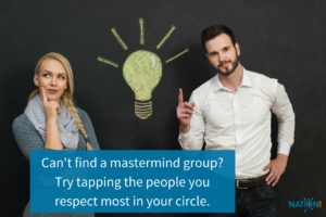 Freelancer who couldn't find a mastermind group, asks a creative in his network to create a group with him.