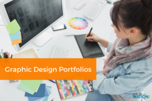 Graphic designer creating the best online portfolio for her niche