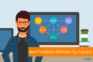 A creative who uses freelance websites to get web development work