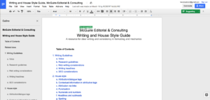 Managing editor's style guide