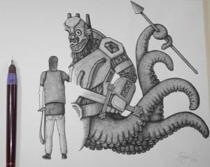 """David Makes Goliath"" Illustration by Dejvid Knezevic"