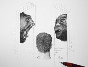 """""""Monkey See"""" Illustration by Dejvid Knezevik"""