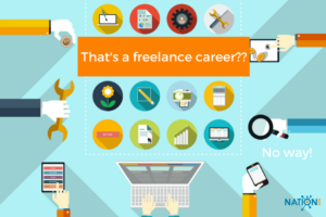Various freelancers working together